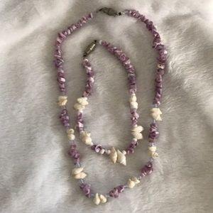 Jewelry - Seashell Necklace & Bracelet
